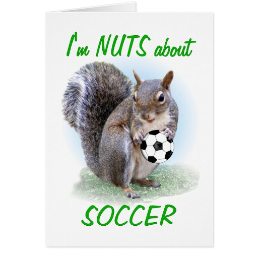 Soccer Nut Greeting Card