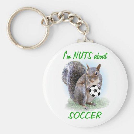 Soccer Nut Keychains