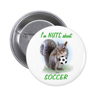 Soccer Nut Pinback Button