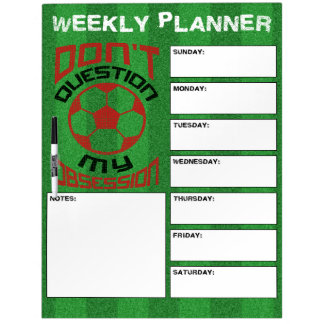 Soccer Obsession Dry Erase Board
