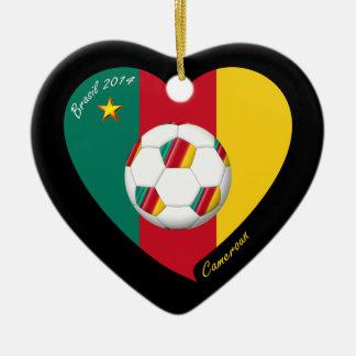 "Soccer of Cameroun, Soccer ""CAMEROUN"" FOOTBALL Ceramic Ornament"