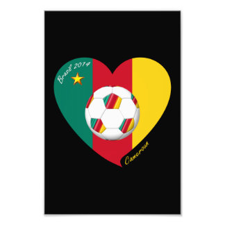 "Soccer of Cameroun, Soccer ""CAMEROUN"" FOOTBALL Tea Art Photo"