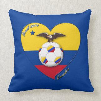 Soccer of ECUADOR. Ecuadorian National Team Soccer Throw Pillow