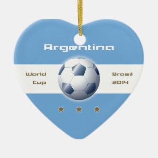 Soccer of the Argentina Selection flag champions Ceramic Ornament