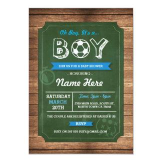Soccer Oh Boy Baby Shower Football Invite