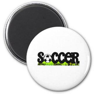 Soccer (On Grass) Magnet