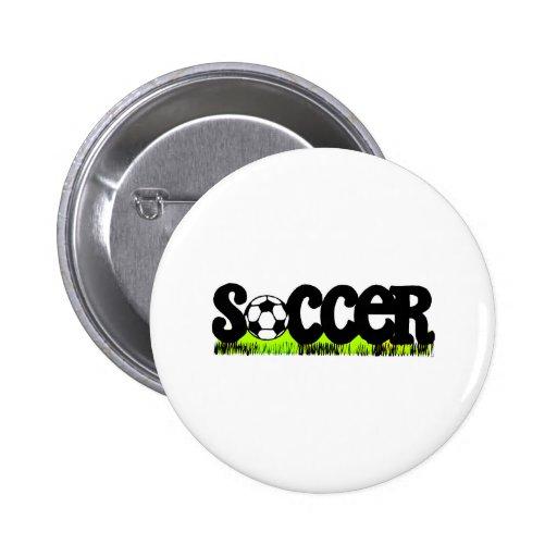 Soccer (On Grass) Pinback Buttons