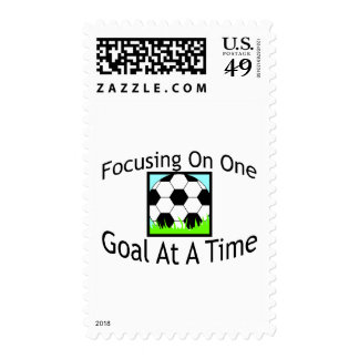Soccer One Goal At A Time Postage