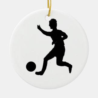 Soccer or football ceramic ornament