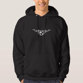 Soccer or Football Scrolly Wings Dark Hoodie