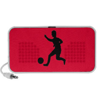 Soccer or football laptop speakers