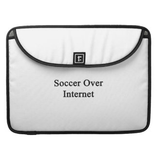 Soccer Over Internet MacBook Pro Sleeves