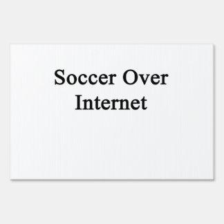 Soccer Over Internet Signs