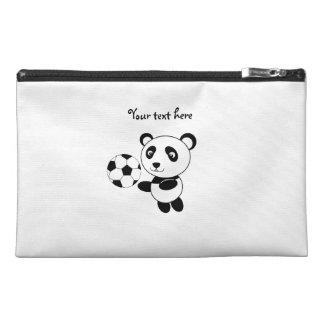 Soccer panda travel accessory bag