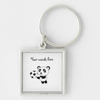 Soccer panda keychain