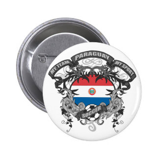 Soccer Paraguay 2 Inch Round Button