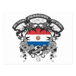Soccer Paraguay Postcard