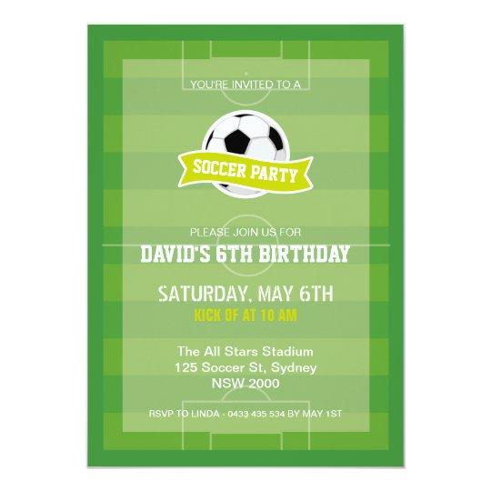 soccer party invitation zazzle com
