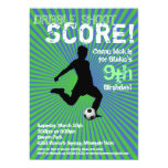 Soccer Party Invitation - Boy, Green and Blue