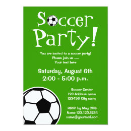 Soccer birthday party invitations announcements zazzle soccer party invitations for birthdays or bbq filmwisefo Image collections