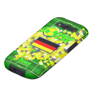 Soccer Pattern Germany Flag Name Dieter Galaxy S3 Case