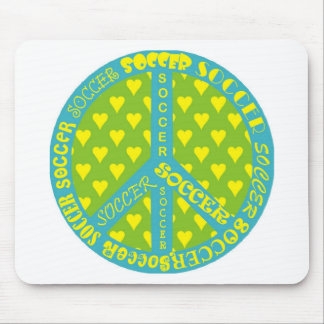 Soccer Peace Sign Frame Mouse Pad