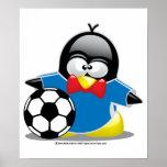 Soccer Penguin Posters