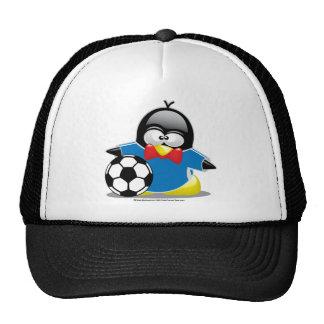 Soccer Penguin Trucker Hat