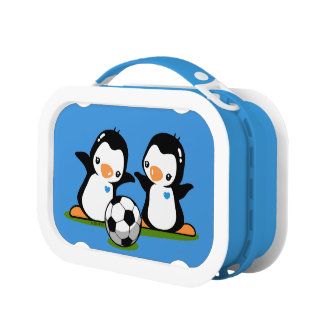 Soccer Penguins Lunch Box