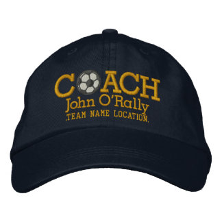 Soccer Personalize Coach Hat Name Team
