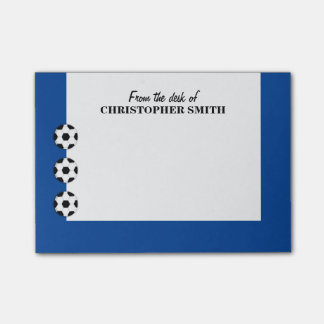 Soccer PERSONALIZE color name Post-it Notes