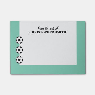 Soccer PERSONALIZE color name Post-it® Notes