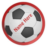 SOCCER Personalized Dinner Plates for Kids