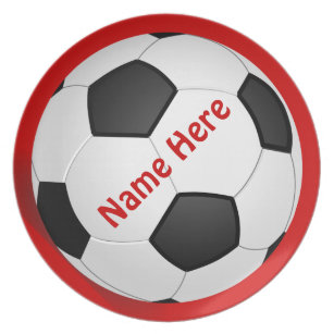 SOCCER Personalized Dinner Plates for Kids  sc 1 st  Zazzle & Soccer Plates | Zazzle