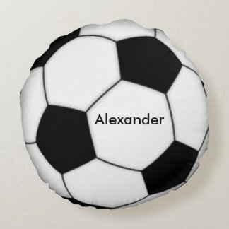 Soccer Personalized Round Pillow