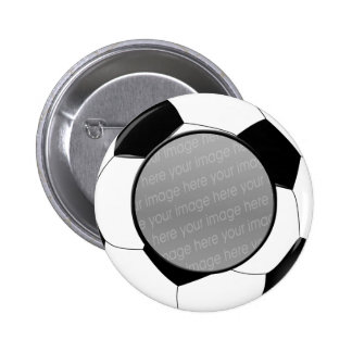 SOCCER photo badge 2 Inch Round Button