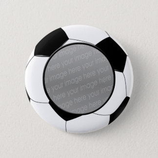 SOCCER photo badge Pinback Button