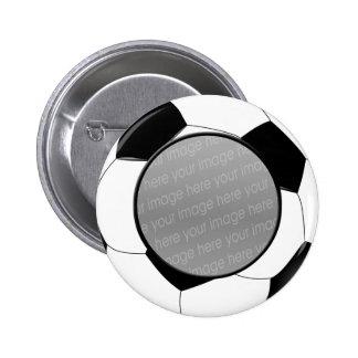 SOCCER photo badge Pinback Button