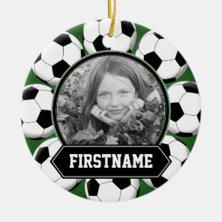Soccer Photo Ornament for Youth