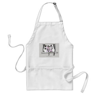 soccer pig saturday forever adult apron