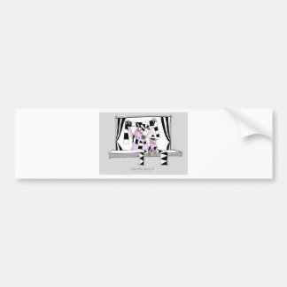 soccer pig saturday forever bumper sticker