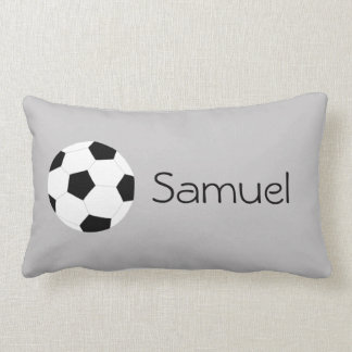 Soccer Pillow: Gray Lumbar Pillow