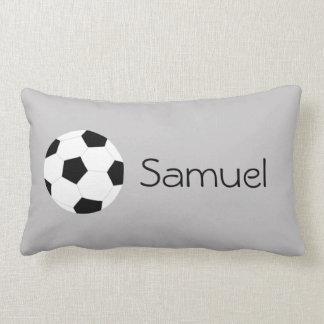 Soccer Pillow: Gray Throw Pillow
