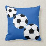 Soccer Pillow: Navy Soccer Pillows