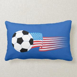 Soccer Pillow: Navy USA Lumbar Pillow