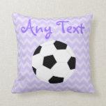 Soccer Pillow: Purple Custom