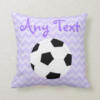 Soccer Pillow: Purple Custom Throw Pillow