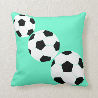 Soccer Pillow: Turquoise Soccer Throw Pillows