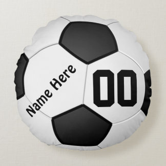 Soccer Pillows NAME, NUMBER, Your TEXT COLORS