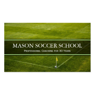 Soccer Pitch - Football School Coach Business Card